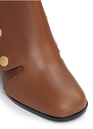 Detail View - Click To Enlarge - Mulberry - 'Marylebone' press stud leather boots