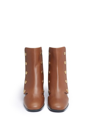 Front View - Click To Enlarge - Mulberry - 'Marylebone' press stud leather boots