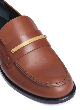 Detail View - Click To Enlarge - Mulberry - 'Cambridge bar' leather loafers