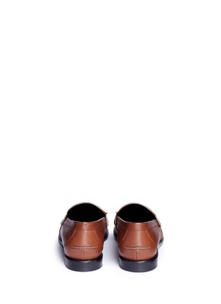 Back View - Click To Enlarge - Mulberry - 'Cambridge bar' leather loafers