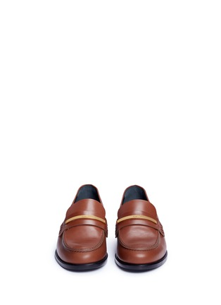Front View - Click To Enlarge - Mulberry - 'Cambridge bar' leather loafers
