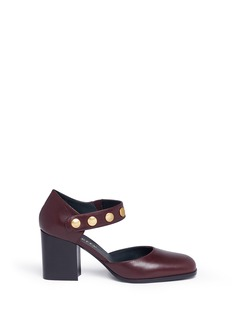 Mulberry 'Marylebone' press stud leather Mary Jane pumps