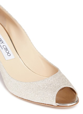 Detail View - Click To Enlarge - Jimmy Choo - 'Isabel' peep toe glitter pumps