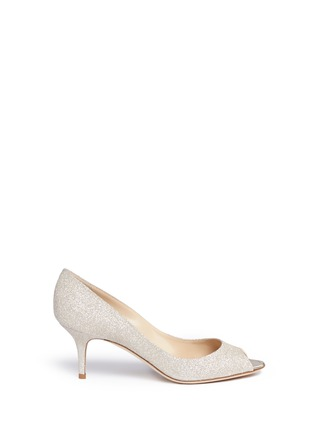 Main View - Click To Enlarge - Jimmy Choo - 'Isabel' peep toe glitter pumps