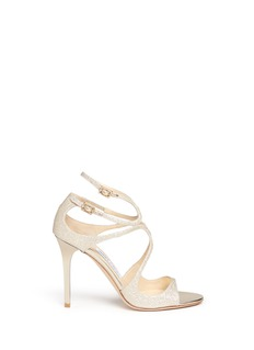 Jimmy Choo 'Lang' glitter strappy sandals