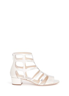 Jimmy Choo 'Ren 35' mirror leather caged sandals