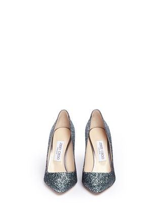 Front View - Click To Enlarge - Jimmy Choo - 'Romy' dégradé coarse glitter pumps