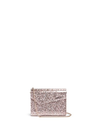 Main View - Click To Enlarge - Jimmy Choo - 'Candy' speckled glitter acrylic clutch bag