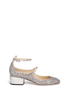 Jimmy Choo'Wilbur 40' chunky heel glitter Mary Jane pumps