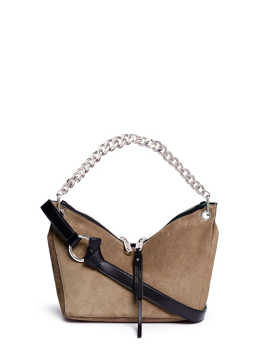 Raven small suede curb chain shoulder bag by Jimmy Choo