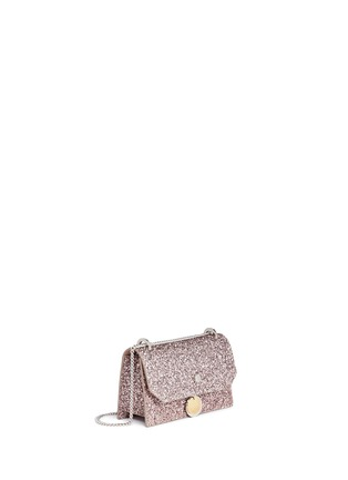 Detail View - Click To Enlarge - Jimmy Choo - Finley' coarse glitter chain crossbody bag