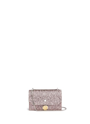 Main View - Click To Enlarge - Jimmy Choo - Finley' coarse glitter chain crossbody bag