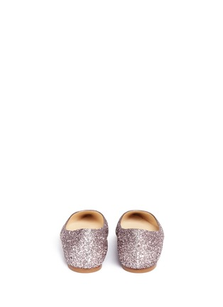 Back View - Click To Enlarge - Jimmy Choo - 'Romy' coarse glitter skimmer flats