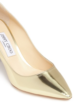 Detail View - Click To Enlarge - Jimmy Choo - 'Romy 85' mirror leather pumps