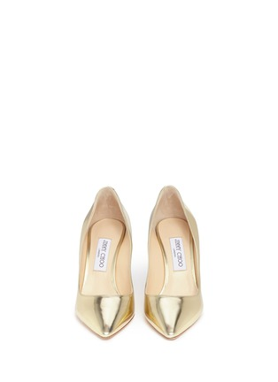 Front View - Click To Enlarge - Jimmy Choo - 'Romy 85' mirror leather pumps