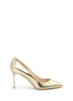 Main View - Click To Enlarge - Jimmy Choo - 'Romy 85' mirror leather pumps