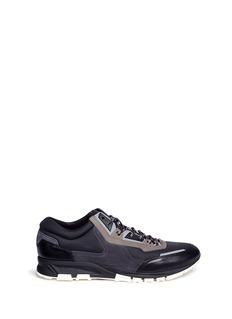 LANVINSIGNATURE拼贴设计真皮运动鞋