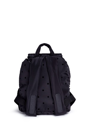 Detail View - Click To Enlarge - See by Chloé - 'Joy Rider' small flocked polka dot backpack