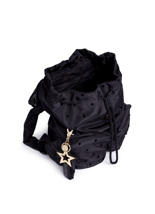 - See by Chloé - 'Joy Rider' small flocked polka dot backpack