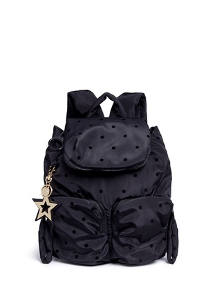 Main View - Click To Enlarge - See by Chloé - 'Joy Rider' small flocked polka dot backpack