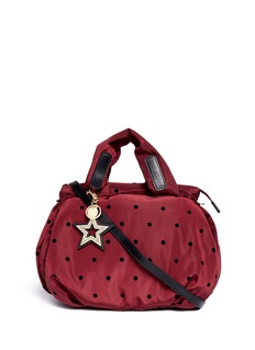 See by Chloé 'Joy Rider' flocked polka dot nylon shoulder bag