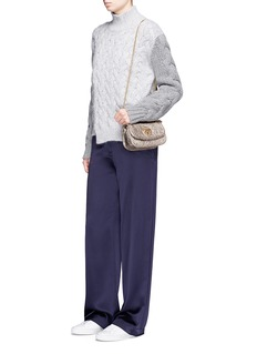 See by Chloé'Lois' metallic crinkled sheepskin leather shoulder bag