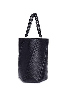Proenza Schouler 'Hex' large whipstitch python leather bucket bag