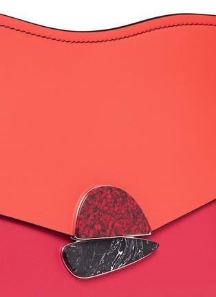 - Proenza Schouler - 'Curl' medium colourblock leather flap clutch