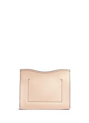 Detail View - Click To Enlarge - Proenza Schouler - 'Curl' medium colourblock leather flap clutch