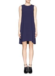 RAG & BONE'Pigment' contrast wrap front crepe dress