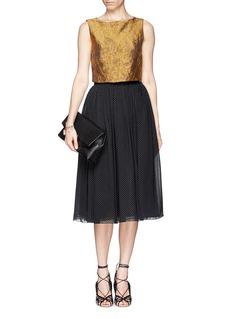 ALICE + OLIVIA'Andalasia' bead pleat maxi skirt