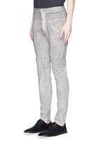 Cold dye twill slim fit pants