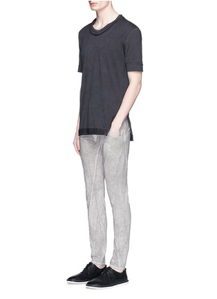 Figure View - Click To Enlarge - The Viridi-anne - Cold dye twill slim fit pants