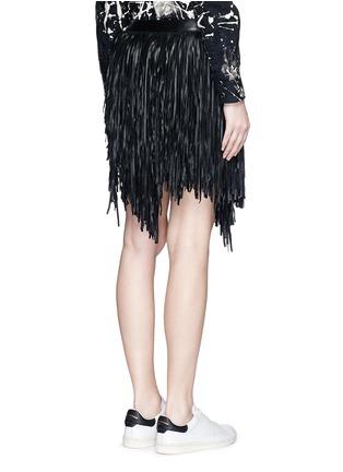 背面 - 点击放大 - SAINT LAURENT - 不对称流苏羊皮短裙