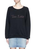 'Too Late' slogan sweatshirt