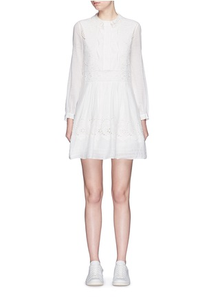 Main View - Click To Enlarge - Saint Laurent - Floral broderie anglaise voile shirt dress