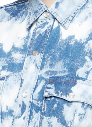 Detail View - Click To Enlarge - Saint Laurent - Acid wash denim shirt