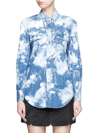 Main View - Click To Enlarge - Saint Laurent - Acid wash denim shirt