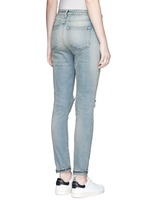Ripped knee light wash jeans