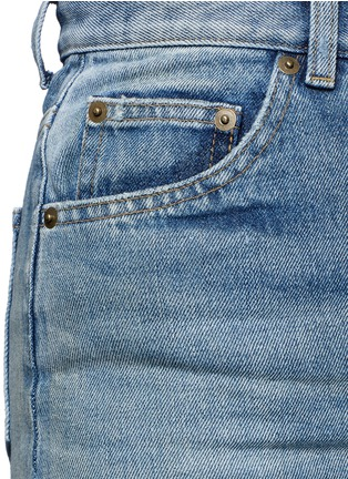 Detail View - Click To Enlarge - SAINT LAURENT - Vintage wash denim skirt