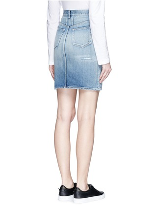 Back View - Click To Enlarge - SAINT LAURENT - Vintage wash denim skirt