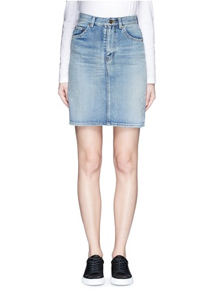Main View - Click To Enlarge - SAINT LAURENT - Vintage wash denim skirt