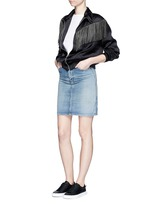 Vintage wash denim skirt