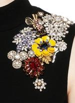 Jewel embellished open back top