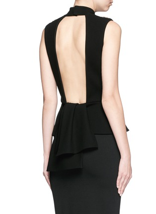 Back View - Click To Enlarge - Alexander McQueen - Jewel embellished open back top