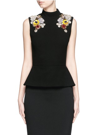 Main View - Click To Enlarge - Alexander McQueen - Jewel embellished open back top