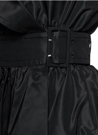 Detail View - Click To Enlarge - Alexander McQueen - Off-shoulder taffeta trench dress