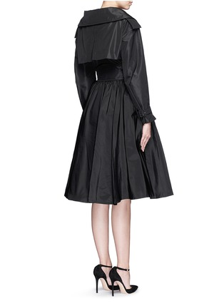 Back View - Click To Enlarge - Alexander McQueen - Off-shoulder taffeta trench dress