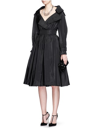 Figure View - Click To Enlarge - Alexander McQueen - Off-shoulder taffeta trench dress