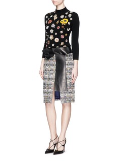 ALEXANDER MCQUEEN Glass crystal embellished cashmere sweater